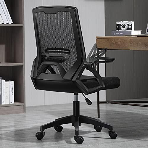 CORALONE Office Chair, Ergonomic Mesh Computer Chair,Adjustable armrest, Lumbar Support Comfortable Desk Chair Task Chair Height Adjustable Mesh Office Chair for Men Women (Black) (Black)