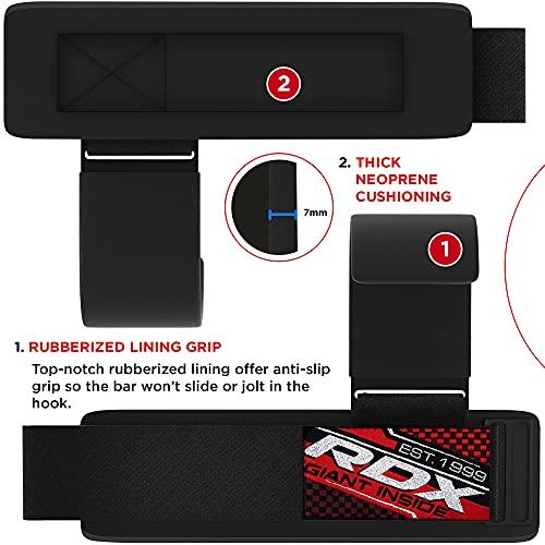 RDX Zughilfen Klimmzughaken Gewichtheben Krafttraining Lastzughilfe Handgelenkstutze - 4