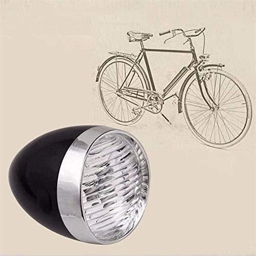 Buzhidao 2-teiliges Fahrradlicht 3 LED Retro Classic Fahrradscheinwerfer Frontsicherheit Wasserdichtes Fahrrad Licht-Silber Schwarz