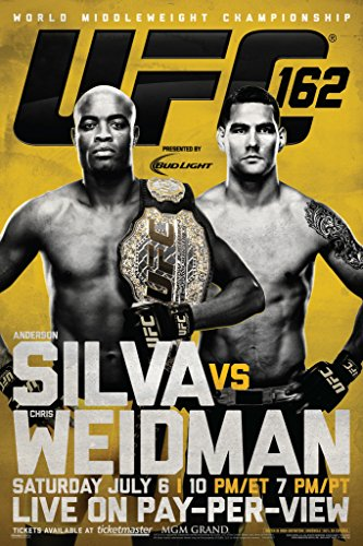 Pyramid America Official UFC 162 Anderson Silva vs Chris Weidman Sports Cool Wall Decor Art Print Poster 12x18