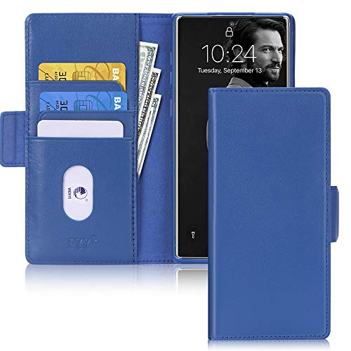 FYY Galaxy Note 10 Plus 5G Hülle,Samsung Galaxy Note 10+ Plus 5G Handyhülle,Flip-Ständer mit Kartenfach & Magnetverschluss,Leder Hülle für Samsung Galaxy Note 10 Plus/Note 10+ Plus Tasche-2019