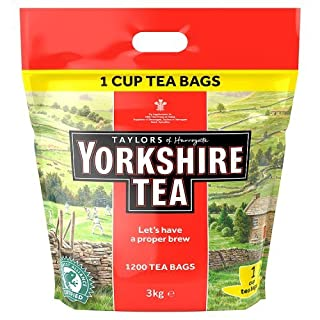 Yorkshire Tea, One Cup Tea Bags 3 Kg (B004QPHXL4) | Amazon price tracker / tracking, Amazon price history charts, Amazon price watches, Amazon price drop alerts