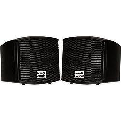 top rated AA321B Indoor Audio Speaker, 400W Black Bookshelf Speaker 2021