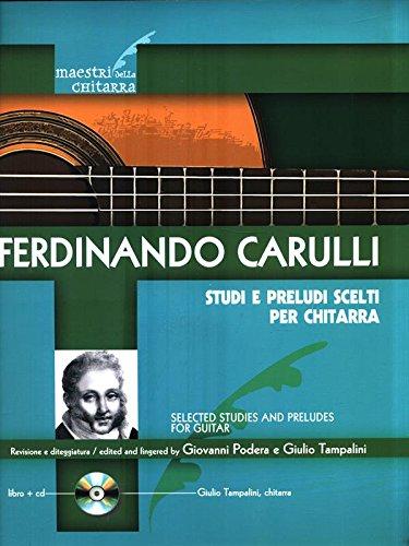 STUDI E PRELUDI SCELTI PER CHITARRA + CD - spartiti per chitarra classica