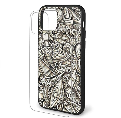 Diseño con Water Extreme Sports Hand (1) Compatible para iPhone 11 Funda Hard Pc + Soft TPU Protector a Prueba de Golpes Thin Phone Cover Pro Max-iphone11Promax-