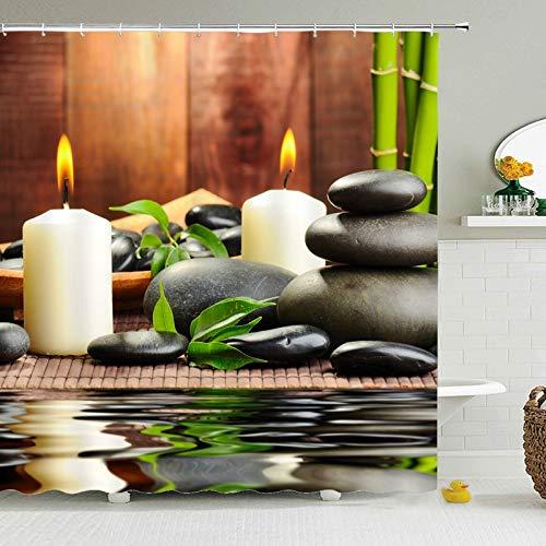 N / A China Buddha Duschvorhang wasserdichter Badvorhang aus Polyestergewebe mit Haken benutzerdefinierte Dekoration wasserdicht & schimmelresistent Duschvorhang Duschvorhang A3 180x180cm