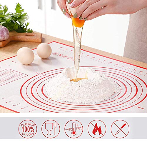 Pastry mats for rolling dough,silicone baking mats,mat for baking,pizza mat,pie rolling mat,pastry mat for rolling dough pastry mat with measurement,oven liner pie crust pad non-stick baking mat…