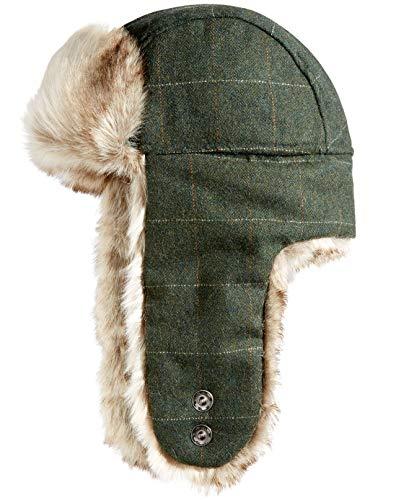 Woolrich Mens Wool Blend Trapper Hat, Green, Large