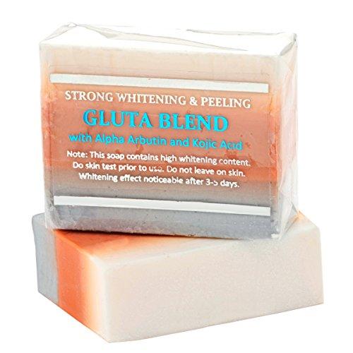 12 Bars of Premium Maximum Whitening/Peeling Soap w/Glutathione, Arbutin, and Kojic acid