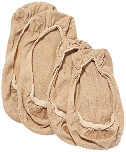 ELBEO Damen Füßlinge Ballerina Baumwoll Füßling Doppelpack/902515, 2er Pack, Gr. 35/38, Beige