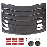 HECASA Rear Window Louver Cover Vent Sun Shade Cover Compatible with 2011-2018 Dodge Charg...