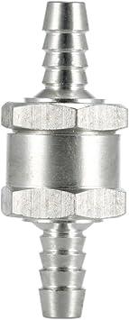 Válvula de retención válvula Alu 8mm carburantes diesel gasolina aceite vegetal y más