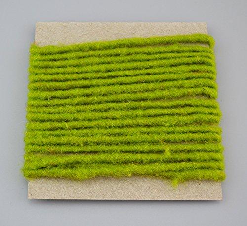 Wollkordel APFELGRÜN 3 m x 4 mm (0,66€/m) Wolldocht 4 mm Grün Kordel 100% Wolle Dekoband Schleifenband Geschenkband Filzkordel Wollschnur Wollband Bastelwolle
