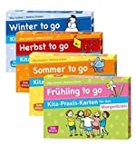 Kita-Praxis-Kartenset für den Morgenkreis: Frühling, Sommer, Herbst und Winter to go (Don Bosco Kita-Praxis-Karten)