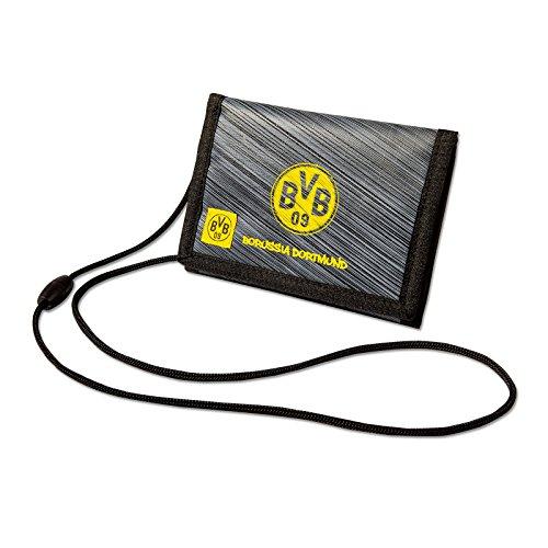 Borussia Dortmund BVB-Geldbörse zum Umhängen, schwarzgelb, one Size