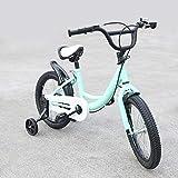 Fetcoi Kinderfahrrad Jungen 16 Zoll Gelb/Rosa/Grün Jungenfahrrad Mädchenfahrrad Kinder Kinderrad Fahrrad mit Bremsen am Lenker Stützräder (Grün)