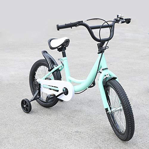 Bicicleta infantil + bicicleta auxiliar, 16 pulgadas, color verde