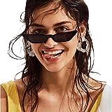 rawdah occhiali da sole donna occhio di gatto moda vintage retro piccola cornice uv400 bicchieri per unisex cat eye triangle occhiali da sole vintage retro eyewear sunglasses (nero)