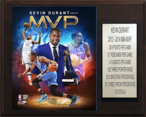 NBA Oklahoma City Thunder Kevin Durant 2013-14 Mvp Plaque, 12 x 15-Inch