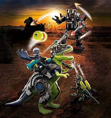 Playmobil T-Rex: Battaglia tra Giganti Giocattolo, Multicolore, 70624