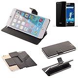K-S-Trade® Schutz Hülle Für Haier Phone L53 Schutzhülle Flip Cover Handy Wallet Case Slim Handyhülle Bookstyle Schwarz