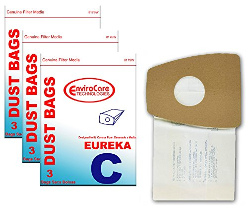 EnviroCare Replacement Vacuum Cleaner Dust Bags for Eureka Mighty Mite Type C 9 Bags