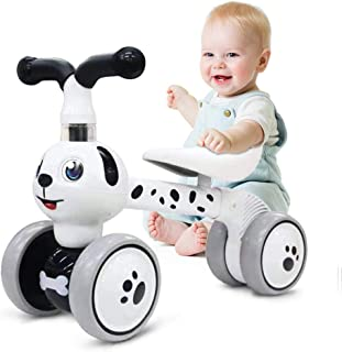 Ancaixin Baby Balance Bikes Children Walker for 10-36 Month, Ride On Bicycle Toys for 1 Year Old Boys Girls, No Pedal Infant 4 Wheels, Toddler Top First Birthday Gift