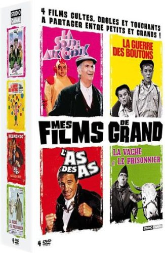 Coffret Mes Films de Grand-La Guerre des Boutons + La Vache et Le Prisonnier + La Soupe aux Choux + L'as des as