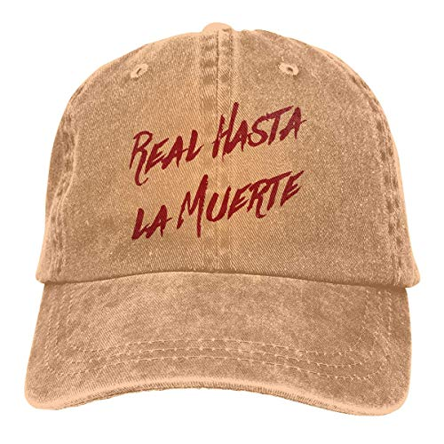 Kpaoaz Real hasta La Muerte Camisa Anuel AA Trap Denim Dad Cap Baseball Hat Adjustable Sun Cap