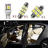 Cobear Fit pour IX35 12V Blanc Pas De Polarité LED Ampoules de Voiture Intérieur Lampe Remplacer pour Halogène ou HID Lampes 4 pcs
