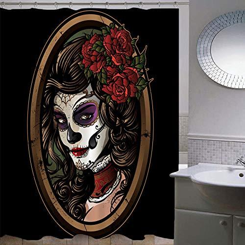 Duschvorhang-Halloween 15,Anti-Schimmel Anti-Bakteriell Wasserdichter Badvorhang 3D Wirkung Polyester Duschvorhang Mit 12 Haken,Umweltfre&lich Waschbar Duschvorhang 150X180Cm