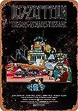 Led Zeppelin The Song Mains Póster de Pared Metal Creativo Placa Decorativa Cartel de Chapa Placas Vintage Decoración Pared Arte Muestra para Bar Club Café