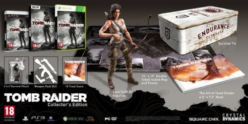 TOMB RAIDER COLLECTOR\'S EDITION XBOX 360 INCLUDE SURVIVAL KIT
