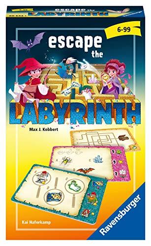 Ravensburger Mitbringspiele 20543 - Escape the Labyrinth , kooperatives Rätsel-Labyrinth ab 6 Jahren