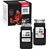LEMERO Remanufactured Ink Cartridge Replacement use with Canon PG-240XL 240 XL CL-241XL 241 XL for PIXMA MG3520 MG3620 MX432 MX452 MX532 MX472 MX512 (1 Black, 1 Tri-Color, 2 Pack)