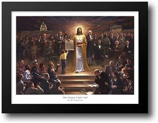 One Nation Under God 30x23 Framed Art Print by McNaughton, Jon