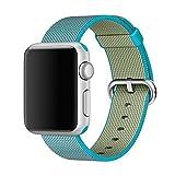 MooveTeck Bracelet Nylon HOCO Bleu Azur for Apple Watch 42mm