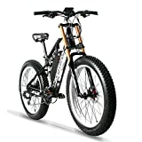 Cqcy Full Suspension Fat Electric Bike 48V E-Bike with 17A Lithium Battery...