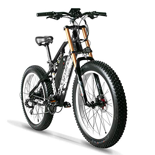 Cyrusher XF900 Electric Bike 750w Fat Tire Mountain Bike for Adults Motorstyle Ebike for Mens (White)