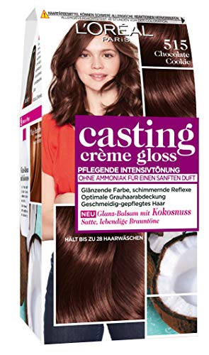L'Oréal Paris A2797704 Casting Creme Gloss Pflege-Haarfarbe, 515 Chocolate Cookie