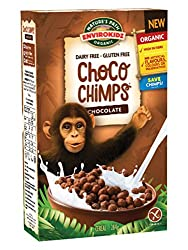 GLUTEN FREE CEREAL: EnviroKidz Choco Chimps cereal is gluten free, vegan, dairy free and wheat free. With a yummy chocolate flavour, it's a great cereal for those with dietary requirements or looking for a sustainable alternative ORGANIC: Nature's Pa...