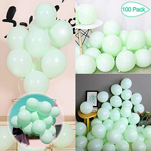 Sunshine smile Luftballons Pastell,Bunte Luftballons,Helium Luftballons,Latex Luftballons,Farbige Ballons,Partyballon,Dekorative Ballons für Hochzeit Weihnachten(100-PACK) (Grün)