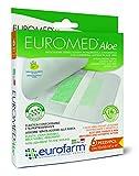 Euromed Aloe( cm 5 x cm 7) Apósito Adhesivo de Tela No Tejida Con Compresa Central en Aloe Vera , no Aderente y Con un alto Poder de Absorcion, 6 Unidades