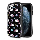 [2019] Case for iPhone 11 Pro Max, iFace [First Class] Pusheen Cat Series Dual Layer Anti Shock Fit Air Cushioned [TPU + PC] [Heavy Duty Protection], Pusheenicorn Black Pattern