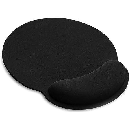 AILRINNI Tapis de Souris Ergonomique - Tapis de Souris Gamer avec Repose Poignet en Gel, Confort avec Repose-Poignet Gaming Mouse Pad pour Ordinateur et Ordinateur Portable - Noir