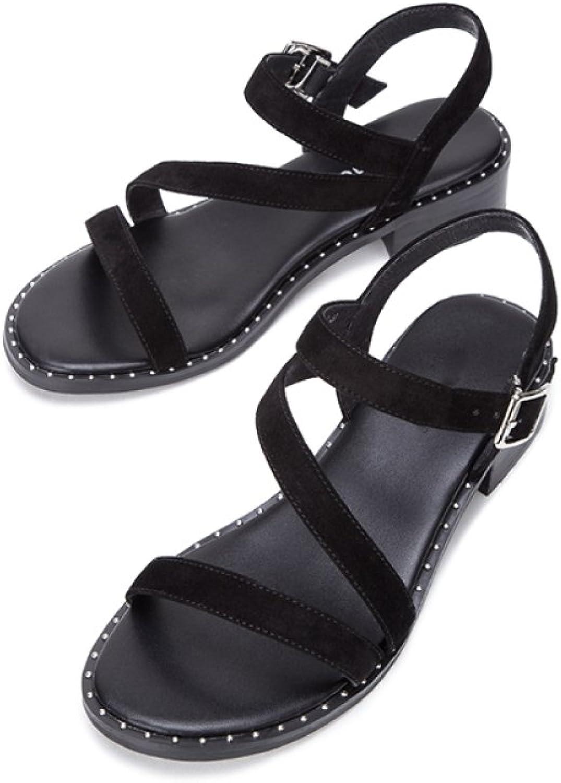 DHG Sommer Süße Sandalen, Modische Damen Hausschuhe, Casual Flache Sandalen, Low-Heel Einfarbig Zehensandalen, High Heels,Schwarz,39  | Lassen Sie unsere Produkte in die Welt gehen