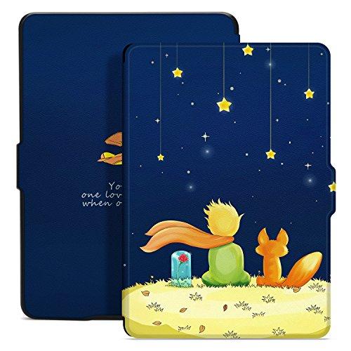 Ayotu Hülle für Kindle Paperwhite-Hülle Cover Mit Auto Sleep/Wake für Amazon Kindle Paperwhite 2012/2013/2016/2015 3.Generation(Nicht geeignet für das Modell der 10. Gen 2018),Der Junge & der Fuchs