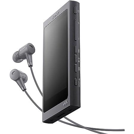 ソニー ウォークマン Aシリーズ 32GB NW-A46HN : Bluetooth/microSD/ハイレゾ対応 最大39時間連続再生 ノイズキャンセリングイヤホン付属 2017年モデル グレイッシュブラック NW-A46HN B