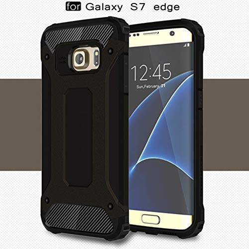 LXHGrowH Funda Samsung Galaxy S7 Edge, Fundas 2in1 Dual Layer Anti-Shock 360° Full Body Protección TPU Silicona Gel Bumper y Duro PC Armadura Carcasa para Samsung Galaxy S7 Edge, Negro
