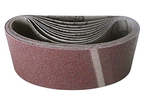 Klingspor LS 307 X Schleifband | 75 x 457 mm | 10 Stück | Körnung: 80 (268664)